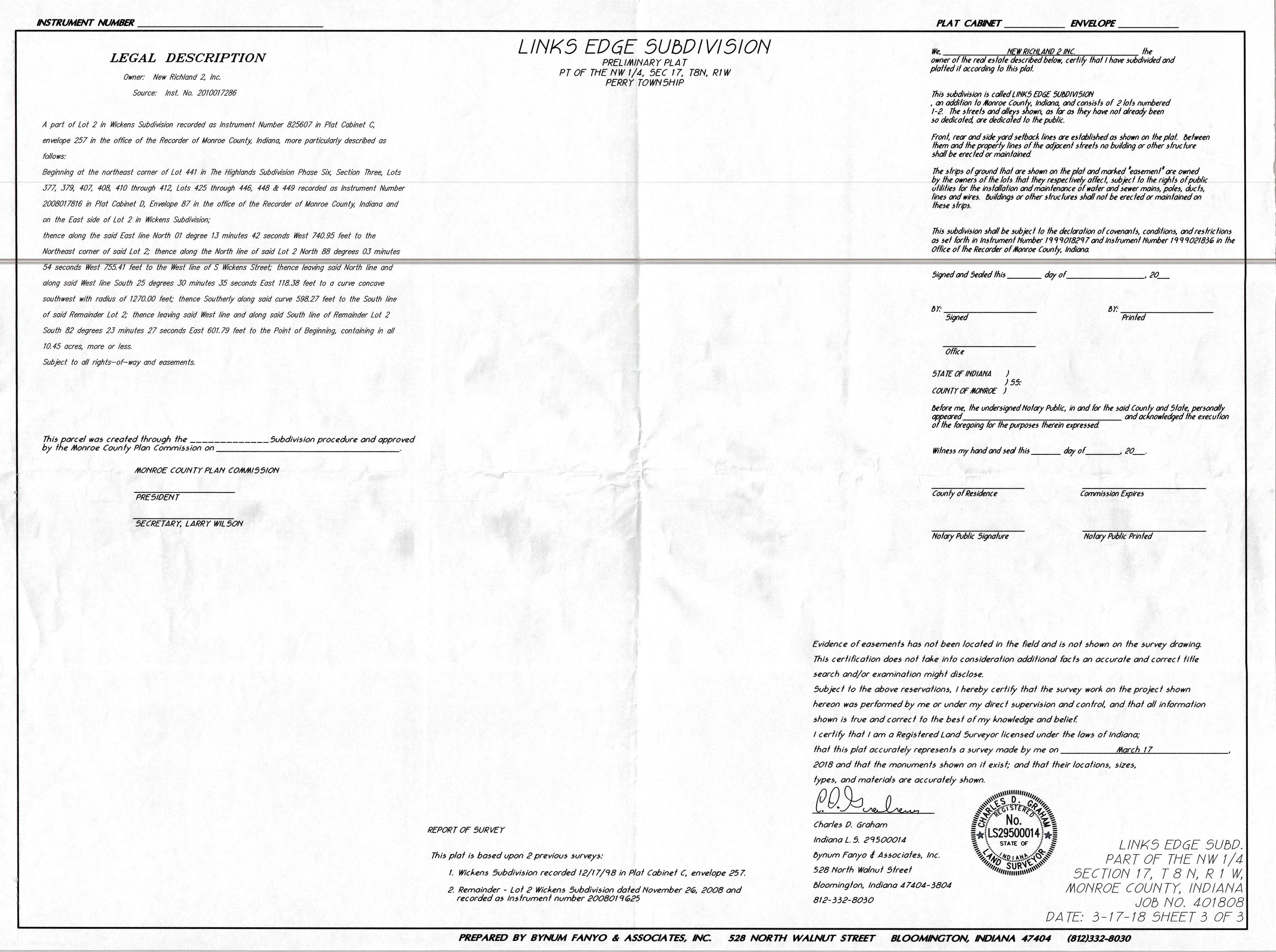 1803-SPP-01_Highlands Parcel 'E' - Preliminary Plat Page 3