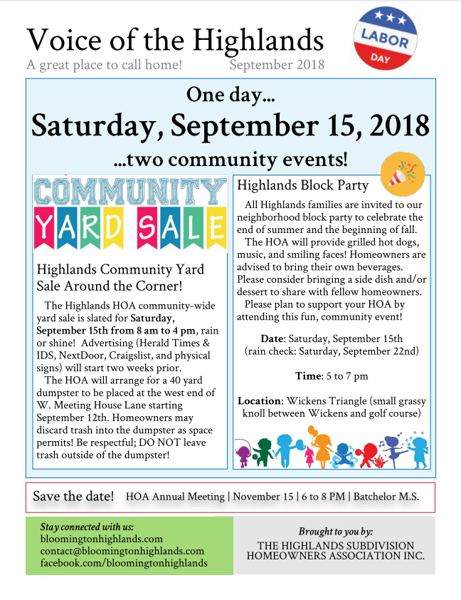 2018 September Newsletter page 1